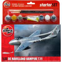 Airfix A55204 De Havilland Vampire T11 1:72 Scale Model Starter Set