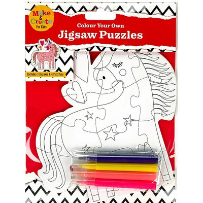 Colour Your Own Unicorn Puzzle image number 1
