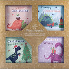 Dinosaur Christmas Cards: Pack Of 20 image number 1