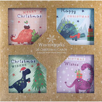 Dinosaur Christmas Cards: Pack of 20