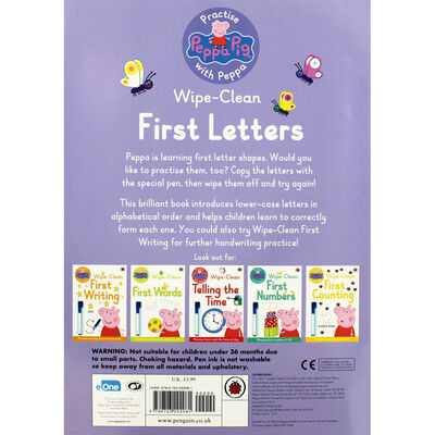 Peppa Pig: First Letters Wipe-Clean Book image number 4