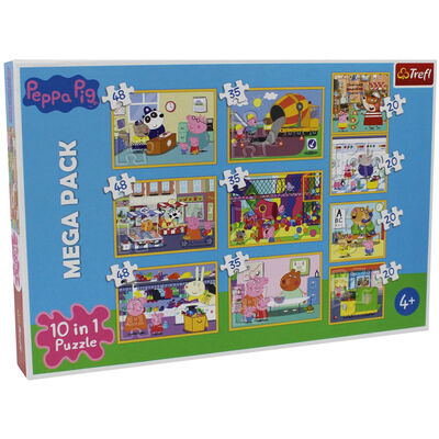 Peppa Pig 10-in-1 Jigsaw Puzzle Set image number 1
