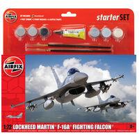 AirFix Lockheed Martin F-16A Fighting Falcon Scale 1:72 Model Starter Set