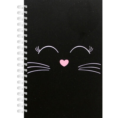 A6 Black Kitten Wiro Lined Notebook image number 1