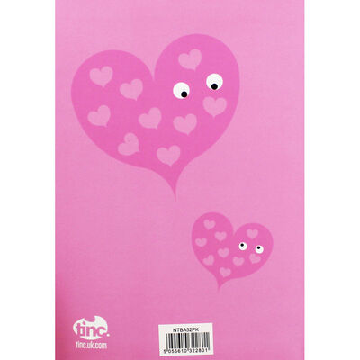 Tinc A5 Pink Heart Lined Notebook image number 4