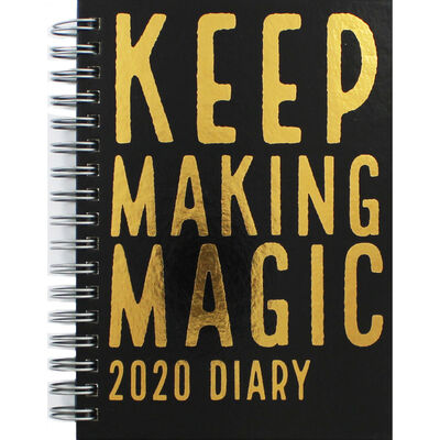 A6 Wiro Making Magic 2020 Week to View Diary image number 1
