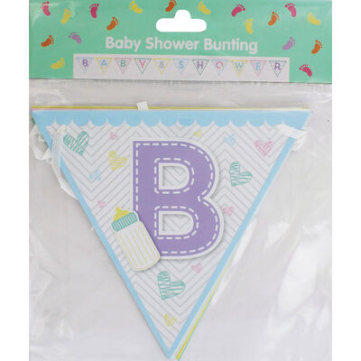 Baby Shower Triangle Bunting image number 1