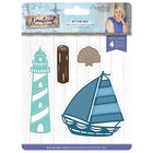 Crafters Companion Nautical Collection Metal Die - By the Sea image number 1