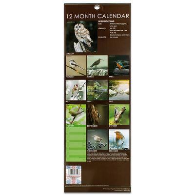 British Birds 2022 Slim Calendar and Diary Set image number 4