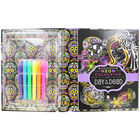 Kaleidoscope Neon Colouring Kit: Day of the Dead image number 2