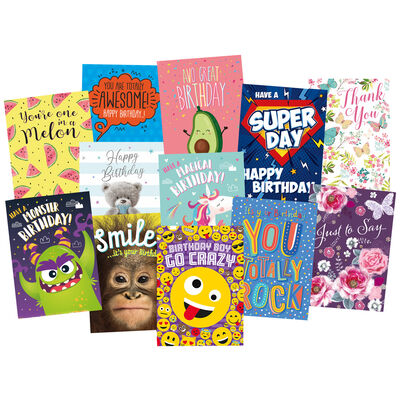Complete Box of 576 Greetings Cards - 12x48 New Designs image number 1