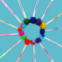 Pom Pom Gel Pens: Pack of 15