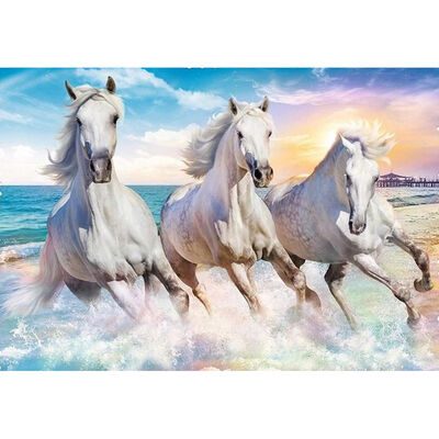 Gallop in the Waves 600 Piece Jigsaw Puzzle image number 2
