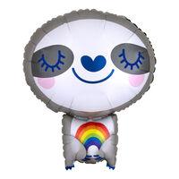 19 Inch Rainbow Sloth Junior Shape Helium Balloon