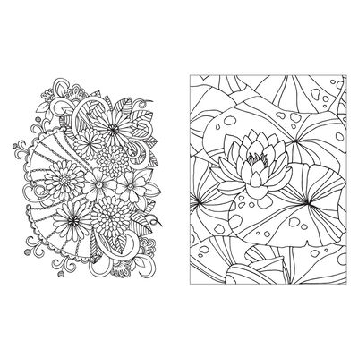 Floral Colouring Book image number 3