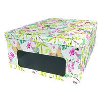 White Butterfly Under Bed Collapsible Storage Box