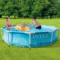 Intex Beachside Metal Frame Swimming Pool