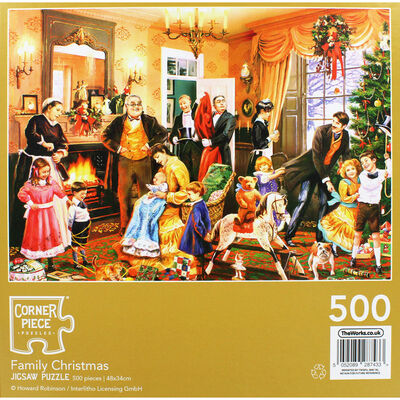 Family Christmas 500 Piece Jigsaw Puzzle image number 4
