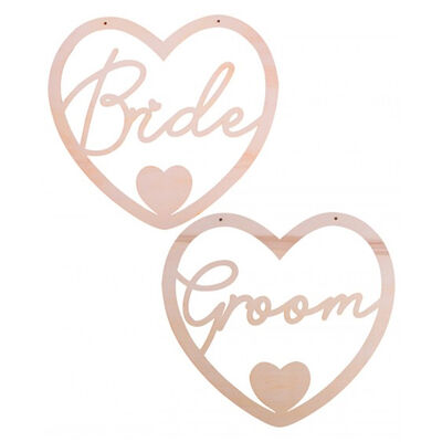 Bride and Groom Chair Signs image number 2