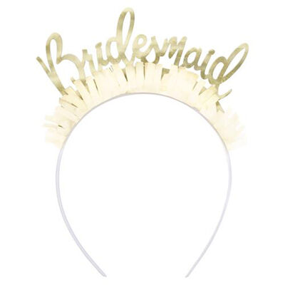 Gold Bridesmaid Headbands Pack Of 4 image number 2
