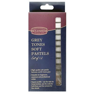 Boldmere Grey Tones Soft Pastels: Set of 12 image number 1