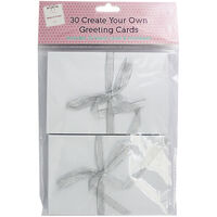 Create Your Own White Greeting Cards - Pack Of 30