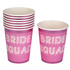 Pink Bride Squad Paper Cups - 8 Pack image number 3