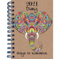 B5 Elephant 2021 Day a Page Diary
