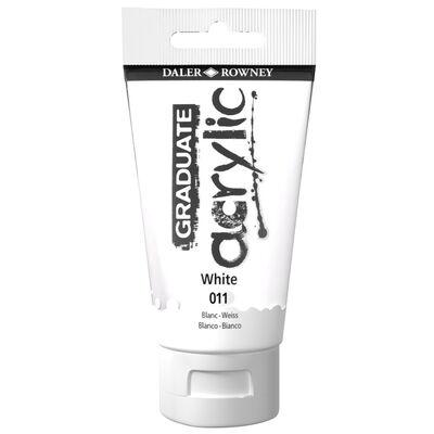 Graduate Acrylic Paint White 75ml image number 1