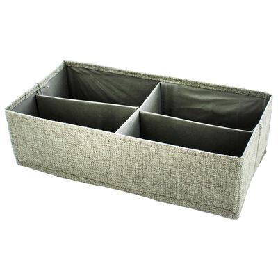 Grey 4-Section Drawer Divider Set image number 2