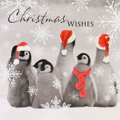 Red Penguin Christmas Cards: Pack Of 10 image number 2