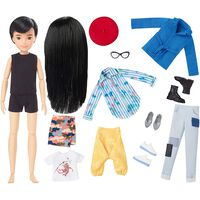 Creatable World Deluxe Character Kit Customizable Doll: Black Straight Hair