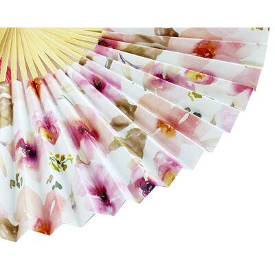 Pastel Floral Paper Fan image number 3