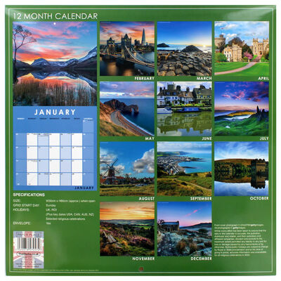 Scenic Britain 2022 Square Calendar image number 3