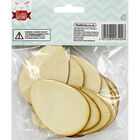 Wooden Egg Shapes - 30 Pack image number 2