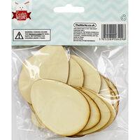 Wooden Egg Shapes - 30 Pack