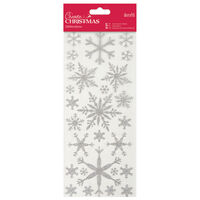 Glitter Snowflake Stickers