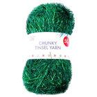 Green Chunky Tinsel Yarn - 50g image number 1