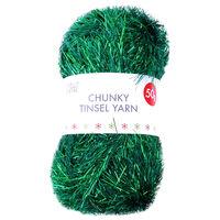 Green Chunky Tinsel Yarn - 50g