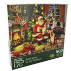 Santa Claus By The Fireplace 500 Piece Jigsaw Puzzle image number 1