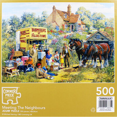 Meeting the Neighbours 500 Piece Jigsaw Puzzle image number 4