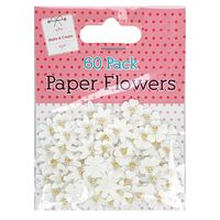 White Paper Flowers: Pack of 60