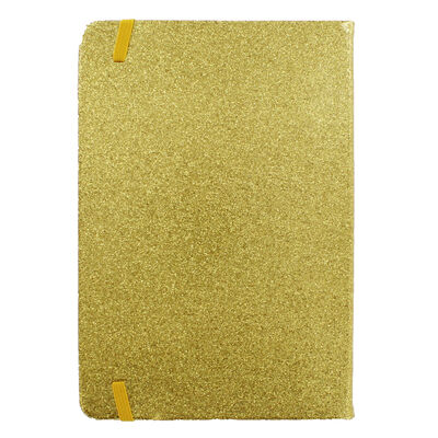 A5 Gold Glitter Cased Lined Journal image number 4