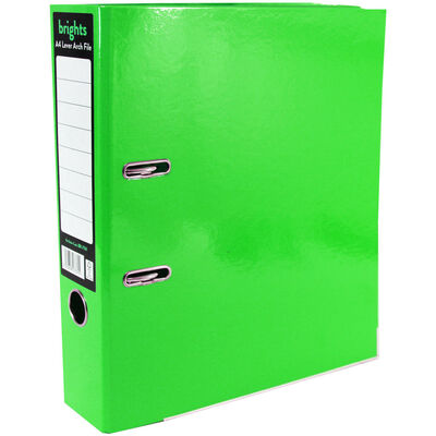 Bright Green A4 Lever Arch File image number 1