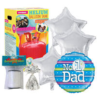 Father's Day No.1 Dad Balloon & Unique Helium Canister Bundle