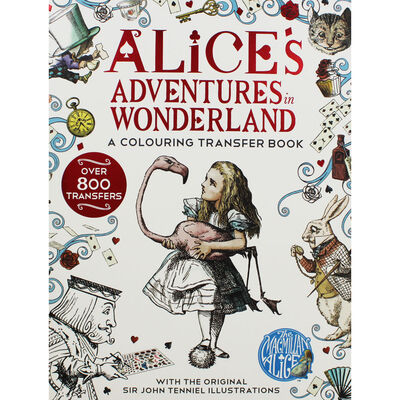 Alice's Adventures in Wonderland: A Colouring Transfer Book image number 1