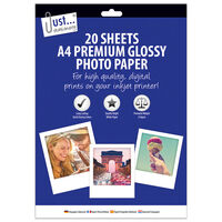 A4 Premium Glossy Photo Paper: 20 Sheets