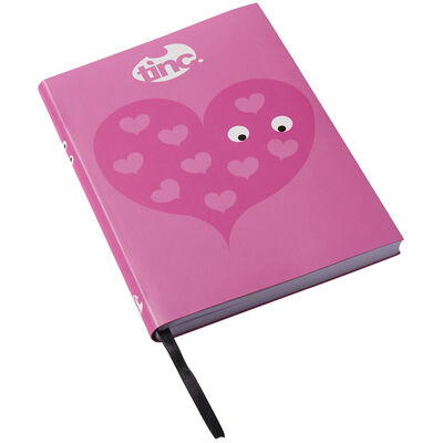 Tinc A5 Pink Heart Lined Notebook image number 3
