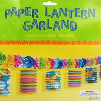 Tropical Paper Lantern Lei Garland - 12ft