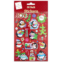Puffy Penguin Stickers: Pack of 30